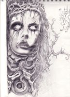 zombie girl by meredetriment