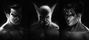 Tekken Portrait Sketches by SalvadorTrakal