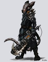 Cyborg Rat Knight by TheLivingShadow