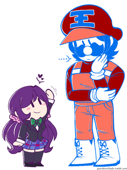 grand dad and smol nozomi by 75m