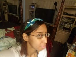 I try on Princess Poppy's headband photo 2 by Magic-Kristina-KW