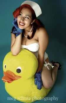 Minnie Vicious with Mr. Duckie by MinnieVicious