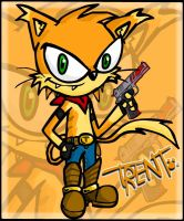 Trent the cat by ZellD0oM