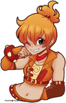 Waist-up Chimchar extra for ShihSnTz by azume-adopts
