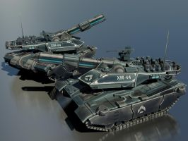 XM44 Sabretooth Omni-Environment Main Battle Tank by Helge129
