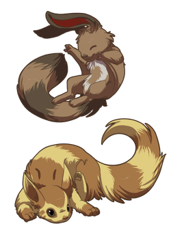 Lil Ferrets by Endivinity