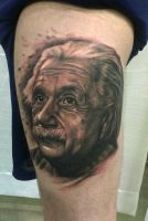 Einstein Tattoo by thick-mcrunfast