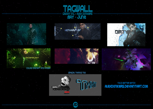 Tagwall May-June by AlexDonkers