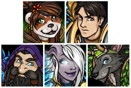 December Patreon Avatars by Noxychu