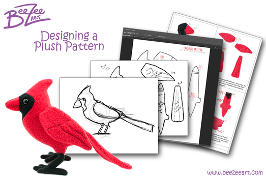Designing a Plush Pattern Guide by BeeZee-Art