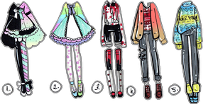 CLOSED- 5 pack of outfits by Guppie-Vibes