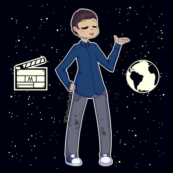 Space Movie Boy by ThePaperKitten