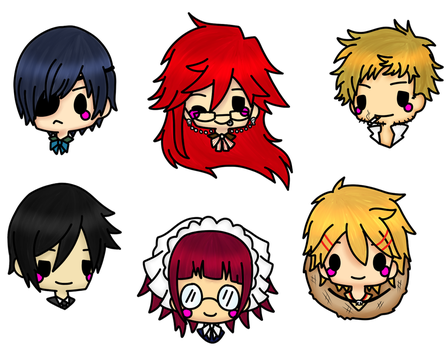 Black Butler Stickers  by Domenica-chan999