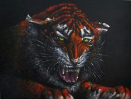 Wild Cat Oil painting by belka10