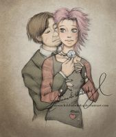 it tickles - remus n tonks by MoonchildinTheSky