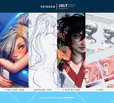 Patreon - JULY2017 rewards by Amelion