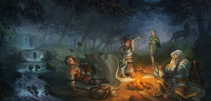 Camping by Pechschwinge