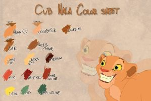 Cub Nala color sheet by Takadk