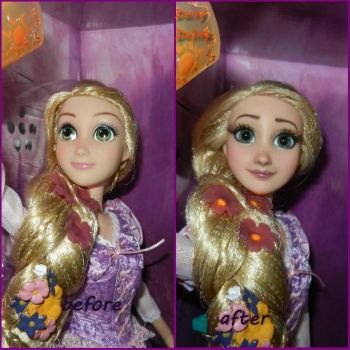 Disney's Tangled Rapunzel OOAK Doll Repaint by DaisyDaling