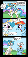 Celestia and Rainbow Dash hang out by tifu