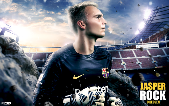 Jasper Cillessen Barcelona Wallpaper 2017 by workoutf
