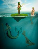Practice Photomanip: Under Water Scene by ambient-avalancher