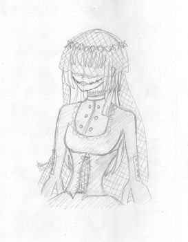 Slender Man's Bride Sketch by costaku-chan