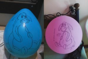 Eeyore Balloons by gato303co