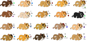 Baby lion cubs adoptables by kopaisfluffy