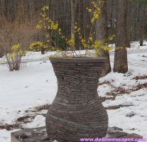 Stacked Stone Vase by Devine-Escapes