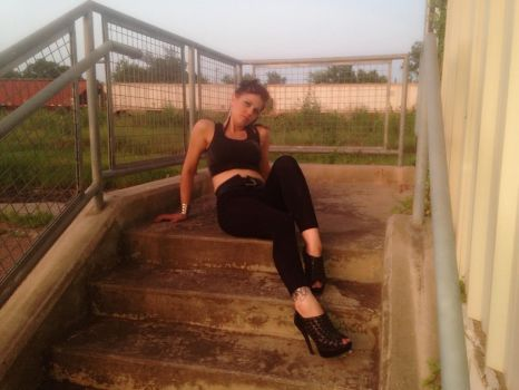 Girl on stairs 7 by tiffani83