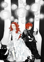 the Night Circus : Poppet and Widget by Sombrewood