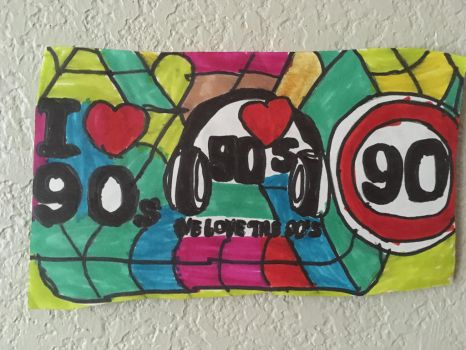 I Love 90s We Love The 90s Art Colorful DesignDraw by NWeezyBlueStars23