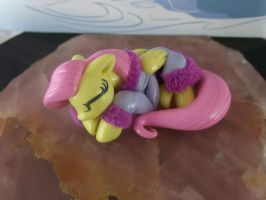Sleeping Fluttershy (top view) by DeadHeartMare