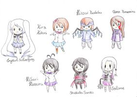 Chibi OC Collab Other Style by TokiHoshiwa
