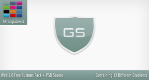 Web 2.0 Download Buttons + PSD Source File by h3tr1k