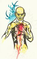 Unfinished Gunshot Wound by MacabreHeretic