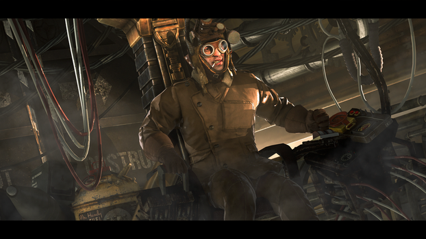 Steam pilot by TheFunnyKep