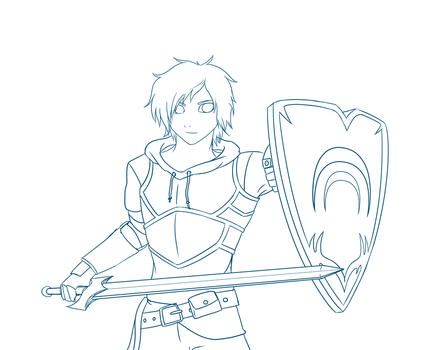 Jaune Arc [Lineart] by DerpyApples
