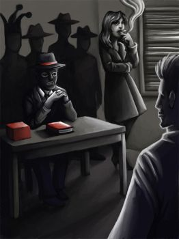 noir illustration by sushy00