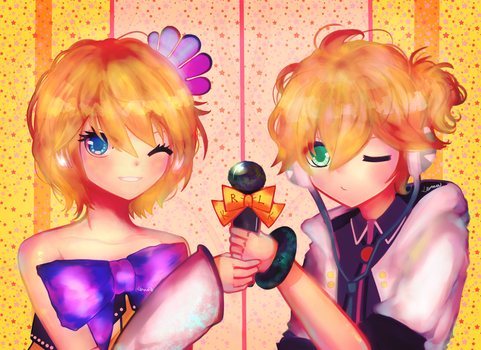 Kagamine Twins Concert by InfinityYellowA
