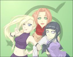 Naruto Girls by D-EIS