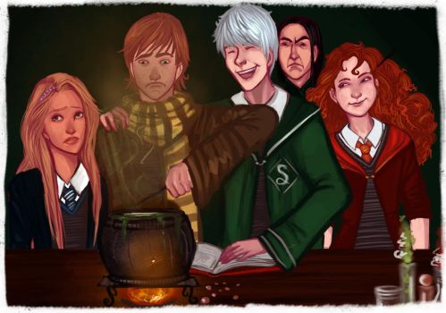 The Big Four at Hogwarts by LeSeera