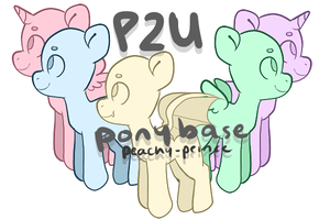 P2U Pony Base Pack by Peachy-Prince