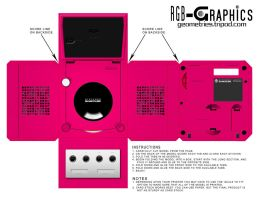 Paper Model-GameCube Pink by KnightRanger
