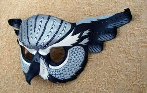 Silver Fantasy Owl Mask by merimask