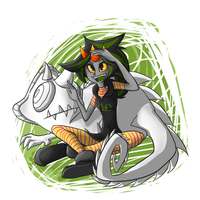 Chamme and her Lusus by 7-Days-Luck