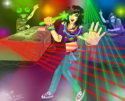 Dancing in the Club by Obsidian-Scion