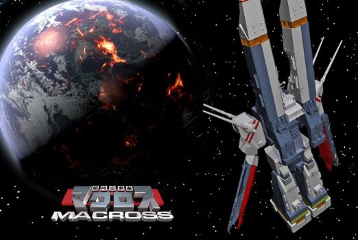 SDF-1 comes to Earth by juantastic