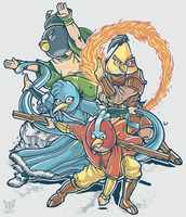 The Legend Of Aang-ry Birds by rhobdesigns